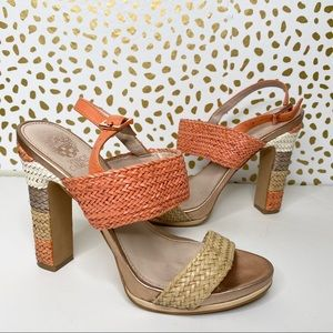"Vince Camuto ""Adrien"" woven leather heels"